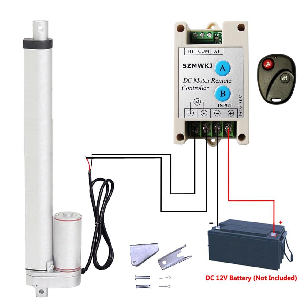 """2 Linear Actuators 14/"""" Stroke 12V Motor W// Wireless Remote Control for Auto Sofa"""