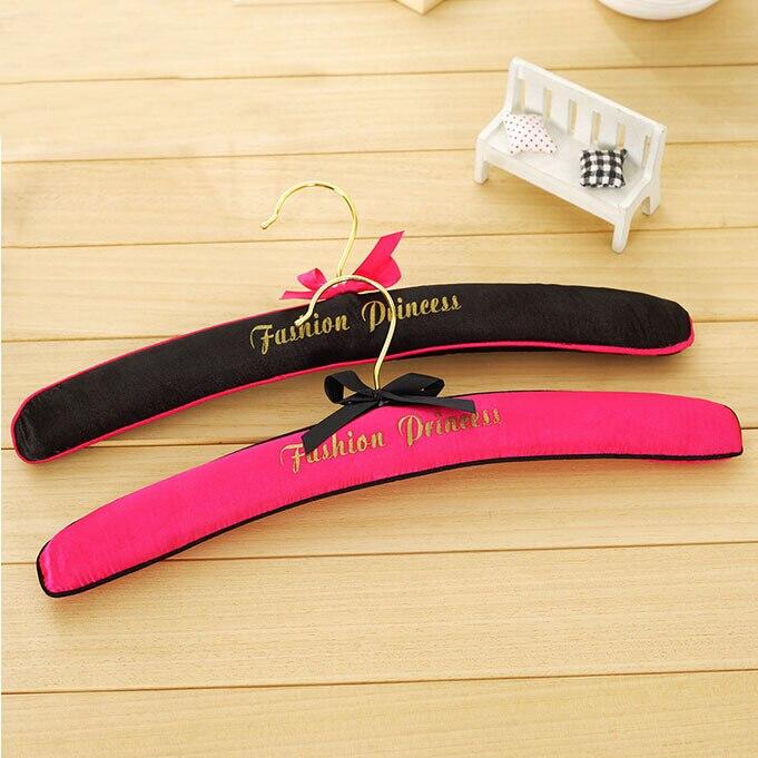 Hanger Wereld Top Kwaliteit Fashion Queen Pastel Satin Padded Hangers Voor Lingerie (16 Stuks/partij)