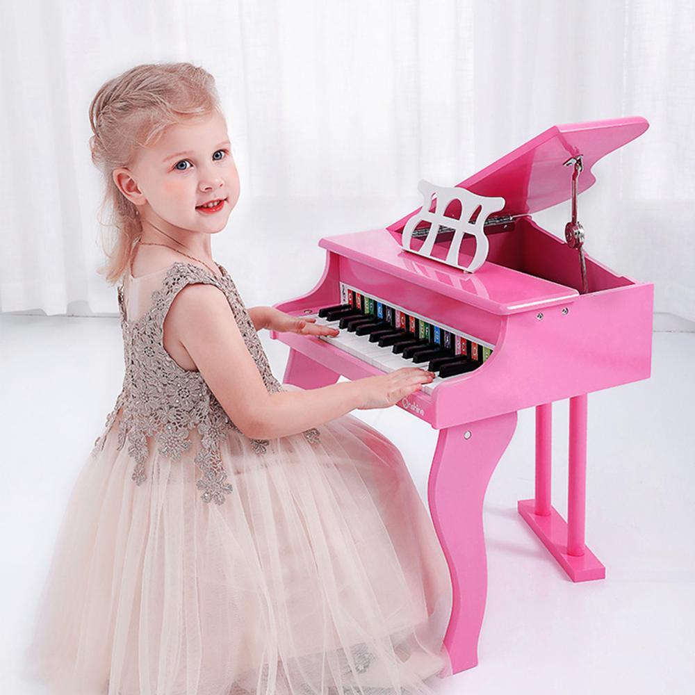 Educazione Della Prima Infanzia in Legno Meccanico Pianoforte Simulazione Musica Musicale Apprendimento Educativi Strumenti di Lusso Giocattolo Del Capretto Del Regalo - 2