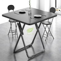 70cm Folding dining table home small apartment round square table Portable folding simple square eating table