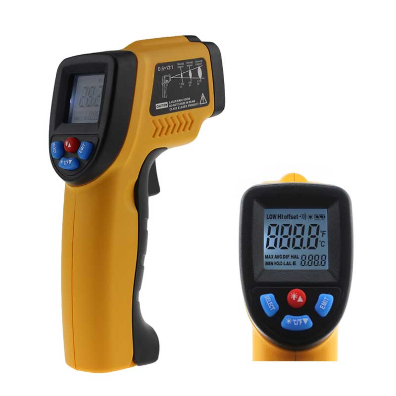 "GM320 -50-380C USB Thermal Camera Infrared Thermometer Hygrometer Weather Station Temperature Controller 6"" Adult Termometer"