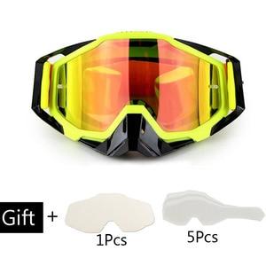 Image 5 - Motosiklet gözlüğü Off Road ATV motokros gözlük kir bisiklet Gafas yokuş aşağı Lunette Moto çapraz ülke motosiklet gözlük setleri