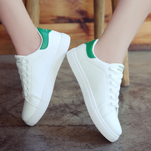 Fashion Woman Leather Shoes Women Cute Casual High Platform PU White Sneakers zapatos de mujer