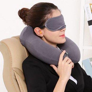 U-Shaped Pillow Inflatable Neck Pillow Neck Pillow U Pillow Travel Compression Inflatable Pillow Inflatable U-Shaped inflatable travel neck pillow intex 36 x 30 x 10 cm