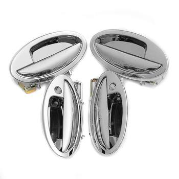 Hot 4pcs Car Exterior Outside Door Handles Set Chrome Cover for LIFAN 520 / 520i / Lifan Breez Car Styling Accessories
