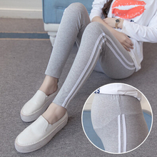 2019 Fashion New Autumn Pregnant Women Leggings Slim Pants Thin Cotton Stomach Lift Soft High Waist Clothes