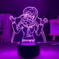 Anime 3D Light Danganronpa Toko Fukawa USB Touch telecomando lampada da tavolo LED acrilico colorato luce notturna