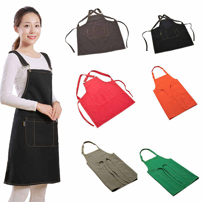 Lvsen-Neckerchief Shoulders Kitchen Apron For Hairdresser Aprons For Woman Cooking Apron AntifoulingWaterproof Aprons tablier
