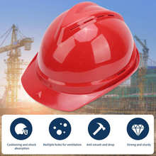 Red Industrial Helmet Breathable Protective Work Hard Hat for Construction Sites Garden Operation