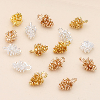 20pcs Gold 12x7mm Small Pine Cone Charm Accessories For DIY Necklace Earrings Alloy Pendant Accessories Jewelry Making Findings 2016 10pcs zinc alloy plating silver nautical compass charm pendant necklace diy fashion jewelry accessories for woman