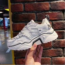 YeddaMavis Shoes White Running Daddy Women Sneakers New Korean Wild Lace Up Womens Woman Trainers