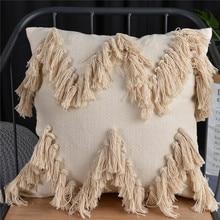 цена на 45x45cm Sofa Morocco Geometric Tufted Tassel Pillowcase Christmas Pillow Case Pillow Cover Home Decorativos