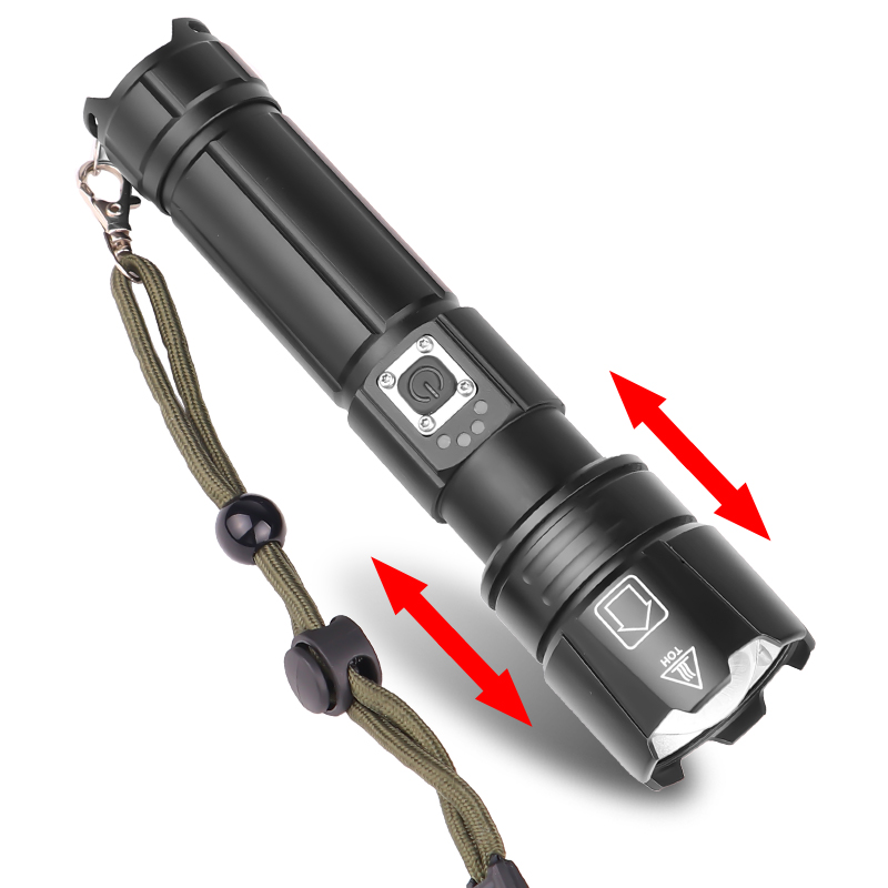 XANES 1476A XHP70 1500Lumens 5Modes USB Rechargeable Zoomable LED Flashlight Outdoor 18650/26650 Flashlight LED Torch Portable
