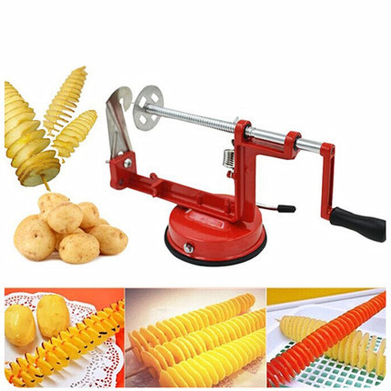 Manual Stainless Steel Sweet Potatoes Machine Potato Slicer Potato Spiral Cutter For Kitchen Tool