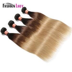 Image 4 - Tissage en lot brésilien naturel Non Remy lisse pré coloré FASHION LADY