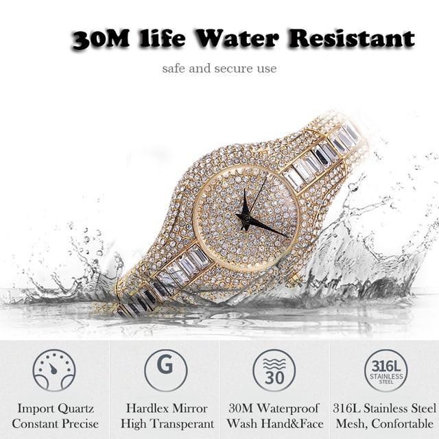 MISSFOX-reloj pequeño de 30mm para mujer, resistente al agua, de lujo, Ar, pulseras de Metal con diamantes de imitación Bu, relojes Chinos Baratos 4
