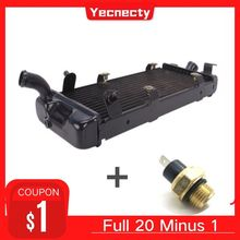 For Honda Shadow VT600 Steed 400 600 VLX 400 600 Motorcycle Accessories Motorbike Water Tank Radiator Cooler With Sensor