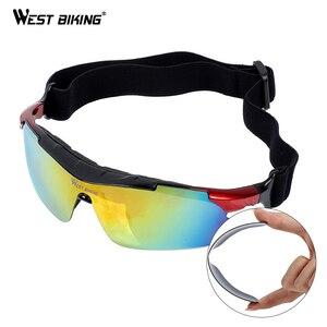 Image 5 - WEST BIKING Polarized Cycling Glasses Anti fog Sunglasses Sport Bicycle Glasses With Mypia Frame MTB Bike Goggles Eyewear