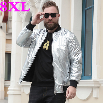 plus size 8XL 7XL Spring and autumn men's high-end printing casual jacket foreign trade trend personality bright waterproof coat