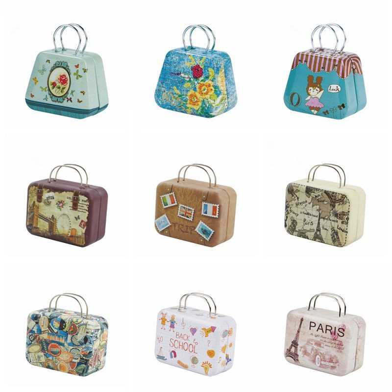 1/6 1/4 BJD SD Miniature Doll Accessories Gifts Cartoon Toys For Children Doll Bag Girl Beautiful Fashion Metal Suitcase Bag Toy
