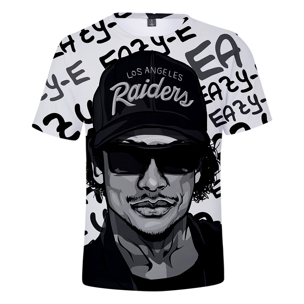 Eazy E T Shirt Men <font><b>Gangsta</b></font> Rap 3D Print Compton Short Sleeve T-shirt Summer Hip Hop Street Tops Fashion Dropshipping Wholesale image