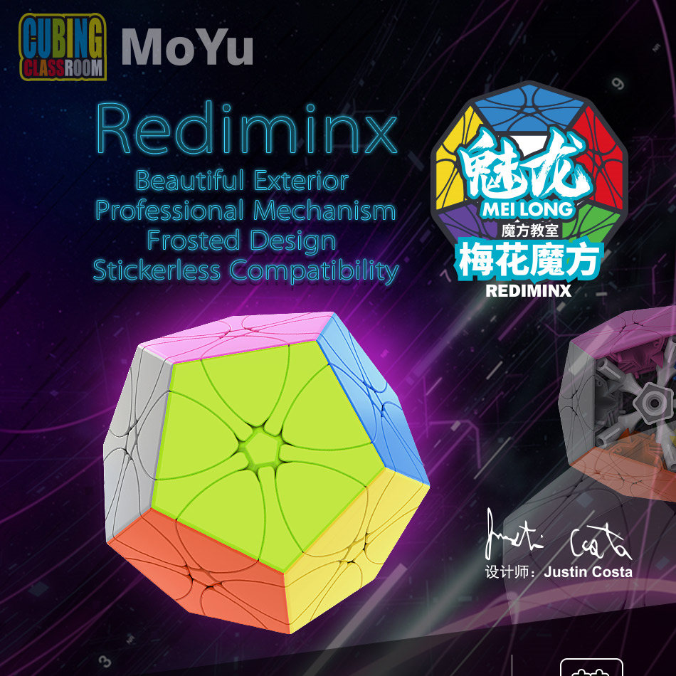 MoYu Wumofang 3x3 Megaminxed Cube Rediminx Cube Magic Cube Puzzle Cubing Classroom Cubo Mgaico Professional  Educational Toys