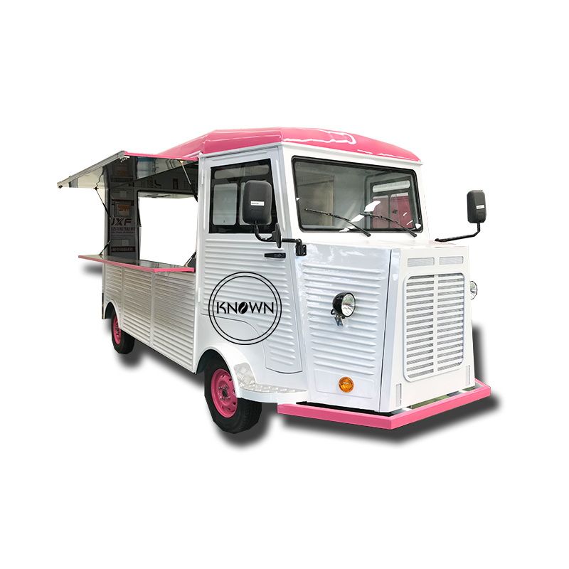 Classic Citroen Commercial Coffee Food Truck Cart Mobile Outdoor Kitchen Cart For Sale