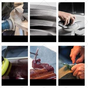 Image 5 - Discos de lixamento almofada abrasivo polonês roda de madeira conjuntos de papel lixamento reparação do farol carro polimento restauração lixa kits