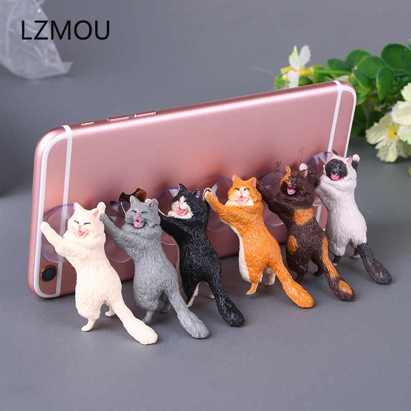 Wedding Gifts for Guests Kids Phone Holder Cute Cat Support Resin Mobile Phone Holder Bridesmaid Gift Present Party Favors