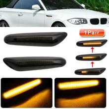 2x indicador lateral luz dinámica LED amarillo indicador lateral de señal de vuelta de las luces para BMW E90 E91 E92 E93 E46 E60 E82 accesorios de luz de coche