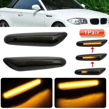 2x Side Marker Light Dynamic Yellow LED Side Marker Turn Signal Lights For BMW E90 E91 E92 E93 E46 E60 E82 Car Light Accessories image