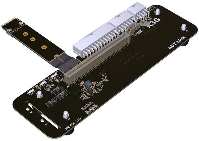 R43SG/R43SG-TU Riser M.2 M clave NVMe Cable de extensión M2 PCIe 3,0x4 Tarjeta gráfica Cable 32Gbs para ITX STX NUC VEGA64 GTX1080ti