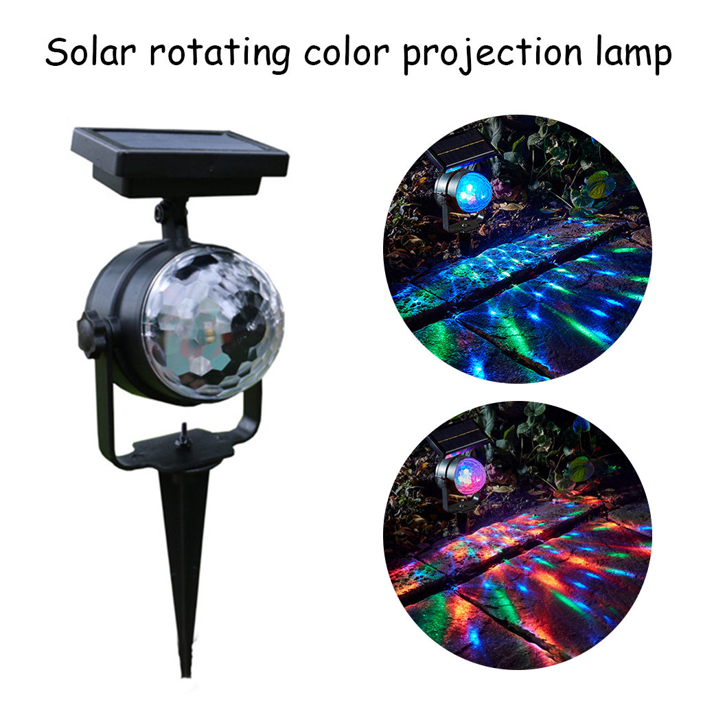 Solar Projector Power LED Projector Light Rotary Spotlight Moving Lawn Lamp For Outdoor Garden Yard Waterproof Lighting A24