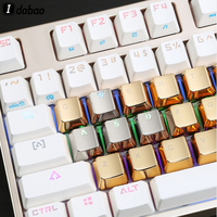87 Cherry Profile MX ZINC GOLD OR SILVER KEYCAPS 37 Keys Customize Of Mechanical Keyboard Aluminum Alloy Key Cap Gh60 87 104 Gaming (1)