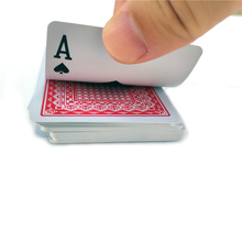 100% PVC plastic New pattern Baccarat Plastic Waterproof Playing Card Game Texas Hold'em Poker Cards Board Games 58*88mm cards