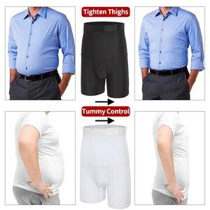 Image 4 - Homens compressão shorts corpo shaper cintura trainer barriga controle emagrecimento shapewear modelagem cinto anti atrito boxer roupa interior