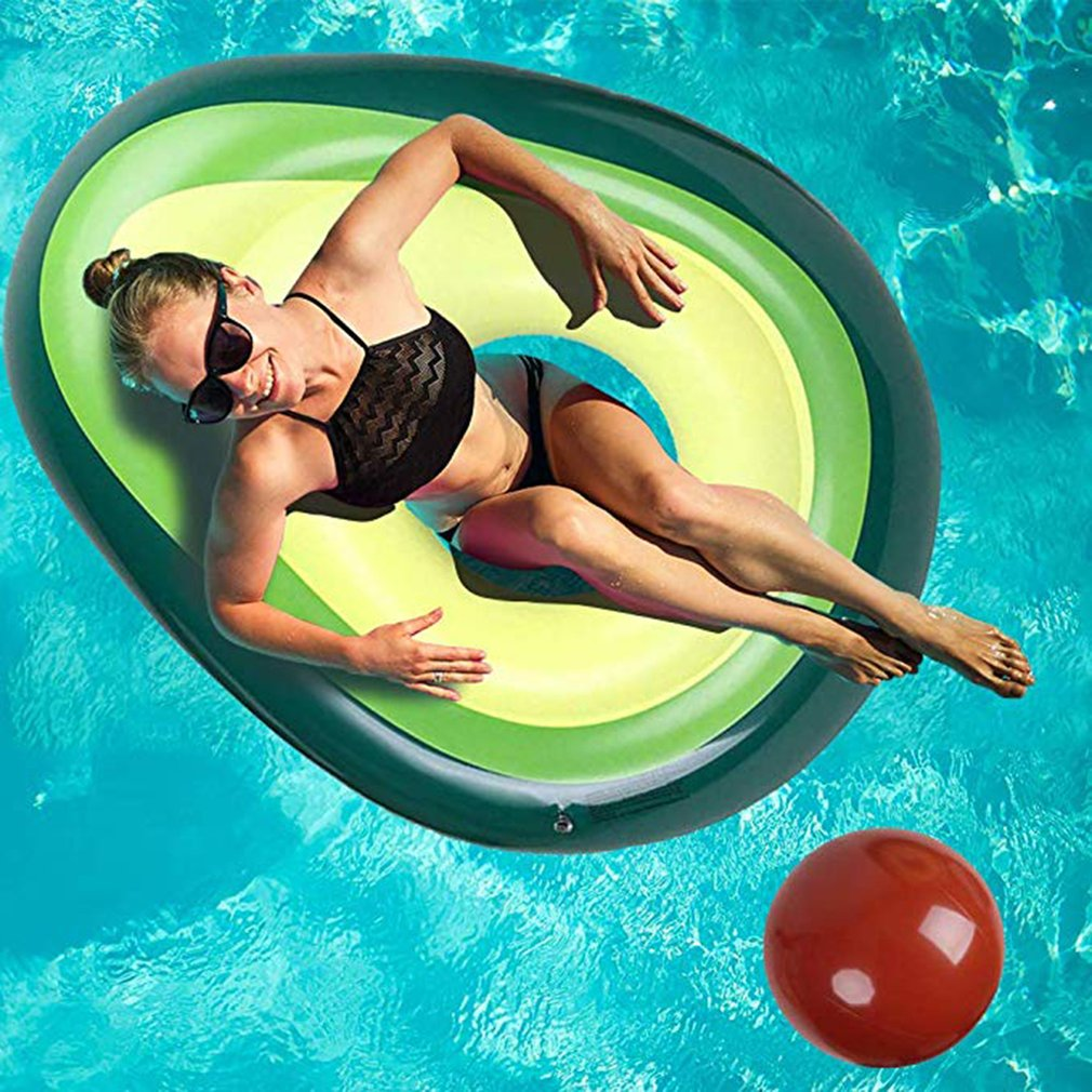 Beach Sports Avocado Swimming Ring Inflatable Swim Giant Pool Float For Adults For Pool Tube Circle Float Swim Pool Toy
