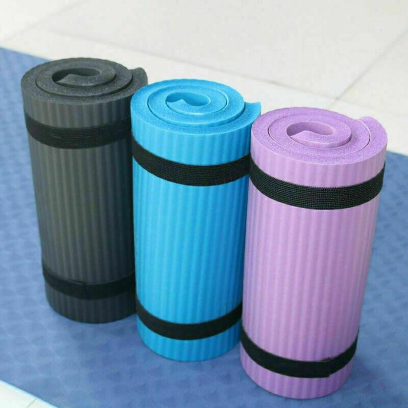 Esterilla de Yoga Pilates gruesa ejercicio gimnasio antideslizante entrenamiento 15mm alfombrillas de fitness y T8