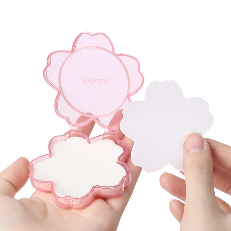 1Box Pink Cherry Flower Shape Disposable Travel Soap Paper Washing Hand Bath Cleaning Portable Boxed Soap Paper