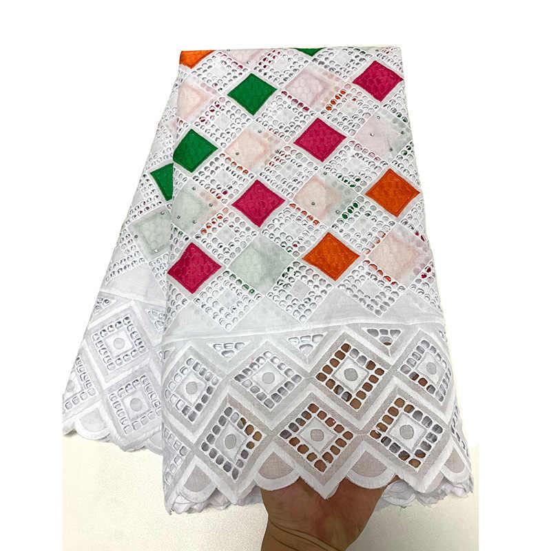 NIAI מכירה לוהטת 100% כותנה בד אפריקאי יבש ניגרי תחרה בד 2020 גבוהה באיכות שוויצרית וואל בשוויץ XY2868B-1