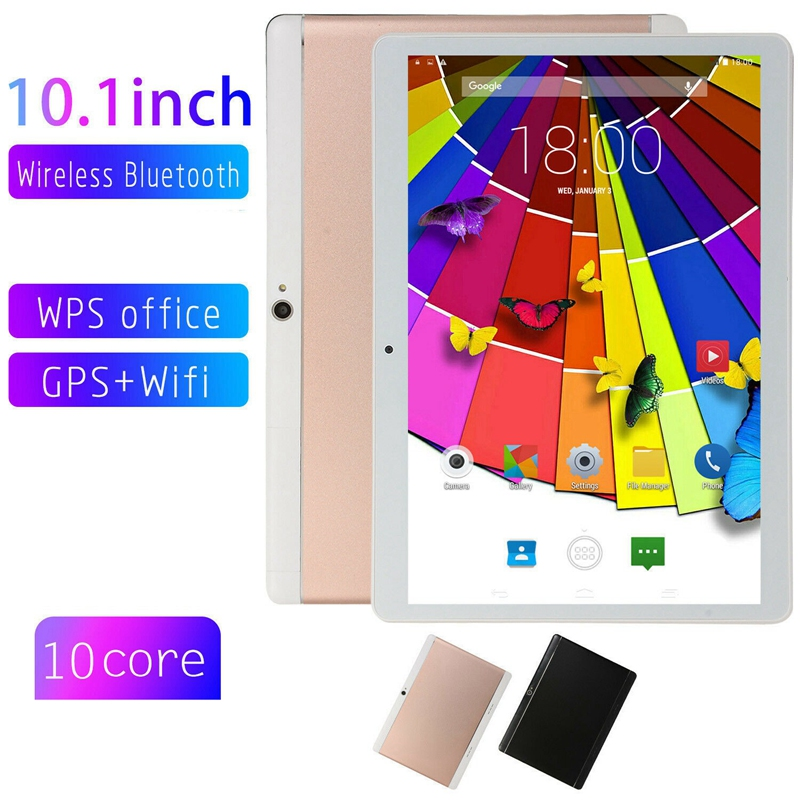 New Kids Tablets 10 Inch 3G Phone Call Android 7.0 Quad Core 2G+32G Tablet Quad Core Dual Camera,Gifts For Boys Girls,US Plug Ro