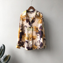 Print Chiffon Shirt Women 2020 Fashion Vintage Loose Long Sleeve Shirts Clothes Spring Flowers Tops Female Casual Blouse Shirt fashion 11 color female chiffon shirts women summer casual top plus size s 5xl loose long sleeve thin and light chiffon blouse