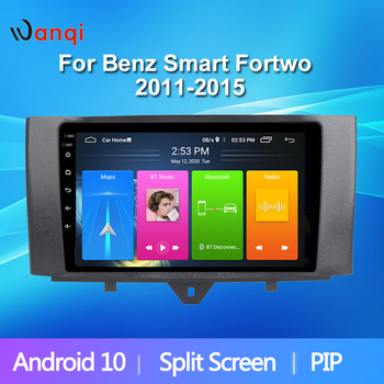 9 Inch Car Multimedia Player For Benz Smart Fortwo 2011-2015 Android10 2.5D Navigation GPS Accessories Bluetooth Radio