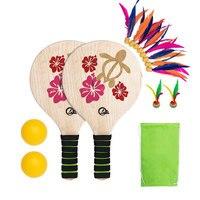 Cricket Badminton Racket Paddle Ball Game Beach Tennis Paddles  Cricket Badminton Rackets Set for Indoor Outdoor Racquet Sport