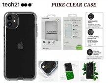 Tech21 جراب هاتف خلوي صلب مقاوم للسقوط ، جراب شفاف لهاتف iPhone X/XS/XR/XS Max 11/11Pro/11 Pro Max