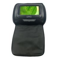 7 Inch Car Headrest Dvd Monitor Speaker Video Monitor Adjustable Hd Zipper Cover Lcd Screen