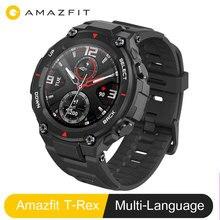 Amazfit t rex t rex versão global huami smartwatch gps 20 dias vida da bateria heartrate 14 modo esporte 5atm