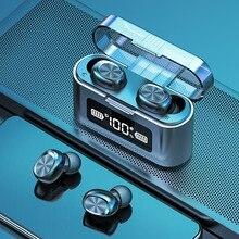 AIRVOLT Bluetooth Kopfhörer mit Mikrofon Sport Wasserdichte Touch Control Musik Earbuds Für Handy Drahtlose Kopfhörer Headset