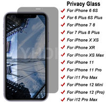 Anti Spy Tempered Glass For iPhone 8 7 6 6S Plus 5 5S SE Privacy Screen Protector iPhone 12 11 Pro XS Max X XR Protection Glass