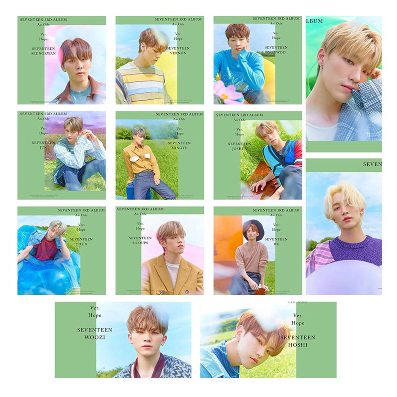 13Pcs/Set SEVENTEEN Photo Pictures Cards LOMO Card Self Made Pictures Photocard Fan Supplies